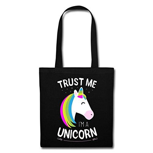 Unicorno Spreadshirt Si Fida Di Me In Un Unicorno Dicendo Di Tessuto Nero