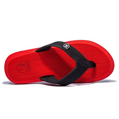 NewDenBer NDB Classic Plush Unisex-Erwachsene II Sandalen Rot (Red)