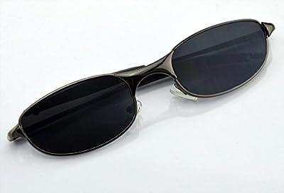 Mengshen® Fresco de las gafas de sol al aire libre espejo retrovisor retrovisor detrás de Anti-Monitor de seguimiento y ver como un par de gafas de sol de oro ordinario / Negro Borde MS-HC34P