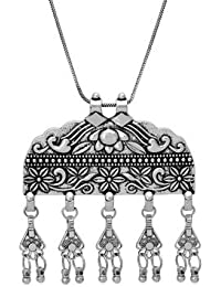 Voylla Fashion Alloy With Oxidized Silver Plated Pendants For Women