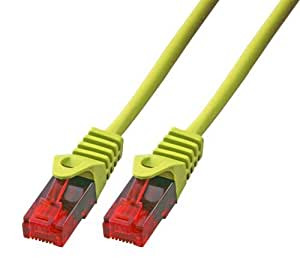 BIGtec 1m CAT.5e Ethernet LAN Patchkabel Gigabit Netzwerkkabel Patch Kabel gelb (RJ45, Cat 5e, Twisted Pair UTP, 1000 Mbit/s) 2 x RJ45 Stecker ideal für Switch , DSL Verbindungen , Patchfelder , Patchpanel , Router , Modem , Access Point und andere Geräte mit RJ45 Anschluß ,CAT Kabel KAT Kabel CAT5e