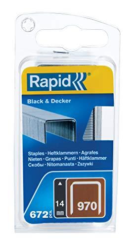 Rapid 40109553 Klammer für Black & Decker Produkte Typ 970/14mm, 670 St. Blister, 14 mm