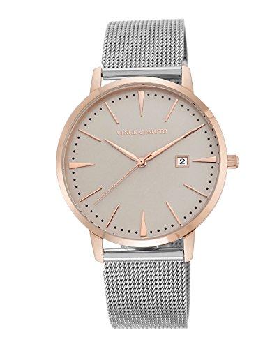 Vince Camuto reloj de mujer de cuarzo con Esfera Analógica Gris y Plata Pulsera de acero inoxidable VC/5301tprt