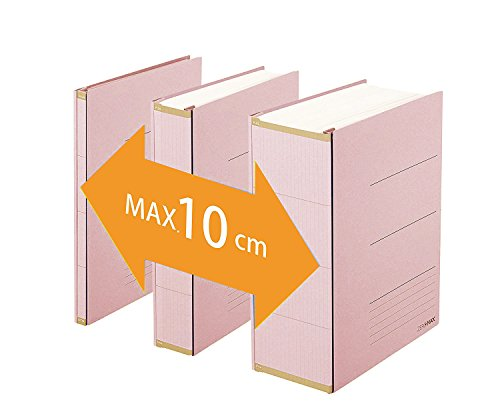 PLUS Japan, Zero Max Platzsparordner in Pink, 1er Pack (1 x 1 Ordner)