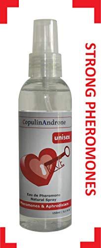 CopulinAndrone Eau de Pheromone natürliches Spray 150ml Unisex-Körpernebel ziehen Geschlecht an -