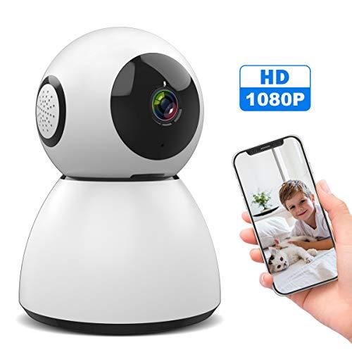 WLAN IP Kamera, SAWAKE 1080P HD WiFi Überwachungskamera innen mit ONVIF, Nachtsicht, 2 Wege Audio, Fernalarm, Bewegungserkennung, Mobile App Kontrolle als Home Monitor