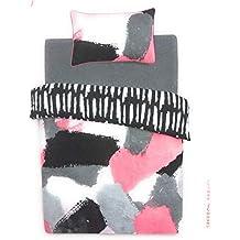 Primark Home Saffron Barker Saffy B Individual Doble King Size Funda Nórdica Reversible Conjunto Pintado Negro
