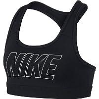 Nike niña Logo Strap GFX–Sujetador Deportivo, Niñas, 939076-010, Black/Black/Black/(White), Medium