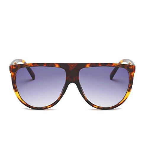Occhiali da Sole Donna*uomo Large Oversize Quadrati Retro Vintage UV400 Sunglasses Eyewear Triangle Rawdah A