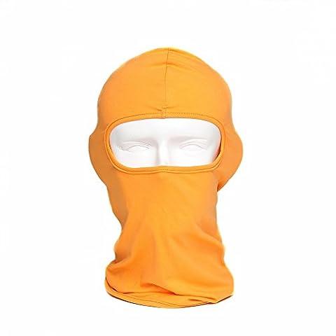 WildGuarder Cagoule Respirant Quick Dry Sport de plein air Masque de ski Tactique Moto Cyclisme Pêche Ombre au soleil Masque complet(Orange)