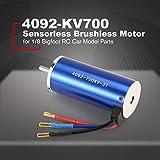 MachinYeser TC-CY 4092 3T KV700 5mm Motor sin escobillas sin Sensor para 1/8 Bigfoot RC Modelo de Coche Repuestos Accesorios Componente Azul
