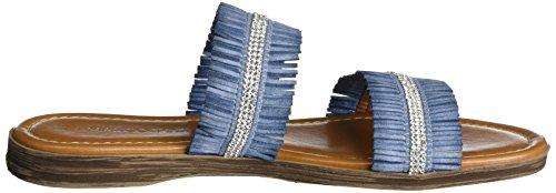 Marco Tozzi 27114, Sandales Bout Ouvert Femme Bleu (Denim Comb 853)
