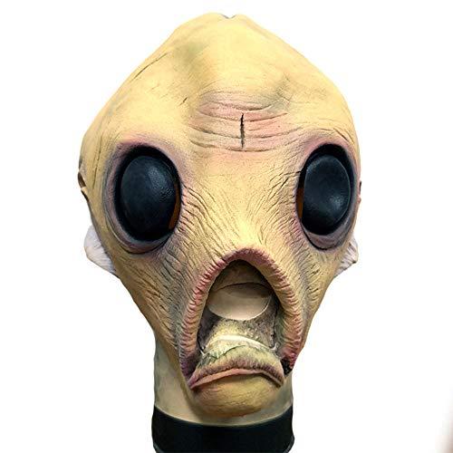 JFSKD Halloween Maske Kostüm Alien Latex Maske Maskerade Science Fiction - Thema Zirkus Kostüm Damen