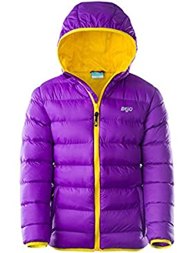 bejo Niños Kelis Kids Padded Jacket, infantil, KELIS KIDS, Amaranth Purple/Bright Yellow, 116