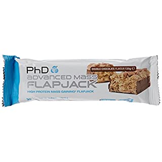 PhD Nutrition Advanced Mass Flapjack, Double Chocolate, Pack of 12 x 120g
