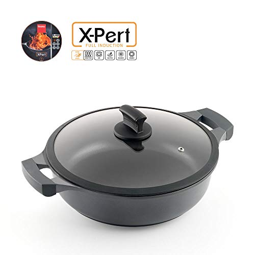 Metaltex XPERT-Cacerola Baja Aluminio Fundido, 28 cm, Antiadherente ILAG 3 Capas, Full Induction válido...