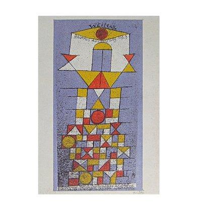 Germanposters Paul Klee Postkarte zur Bauhaus-Ausstellung 'Die erhabene Seite 1923' Poster Bild...