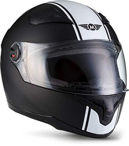 """Moto Helmets® X86 \""""Racing Matt Black\"""" · Integral-Helm · Full-Face Motorrad-Helm Roller-Helm Cruiser · ECE Visier Schnellverschluss Tasche M (57-58cm)"""