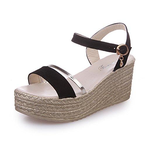 fashion Lady plate-forme peep-toe Sandals/Buckle wedge sandals du joker dans l'été/Sandales casual Student A