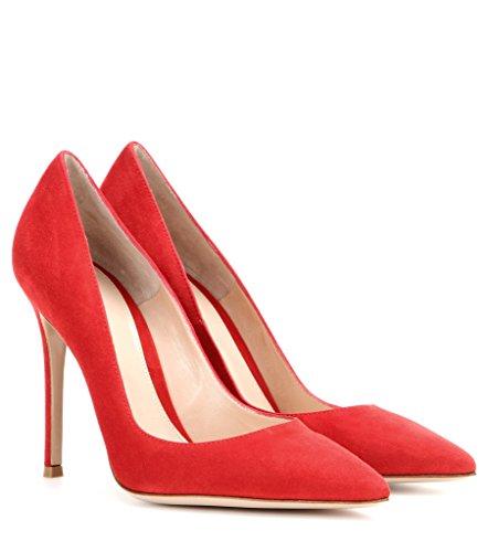Milímetros Elegante Escritório Edefs Sapatos Padrão Partido Bombas Vermelho Prom Apontou Salto Faschion sul 100 Alto Lingerie qUUwB1I