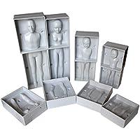 Fondant Humanos por Kurtzy -Set 24 Piezas Moldes de Plástico Set Completo de Familia incluye 4 Tamaños -Hombre, Mujer y 2 Niños - Instrucciones Completas- Para Principiantes y Profesionale