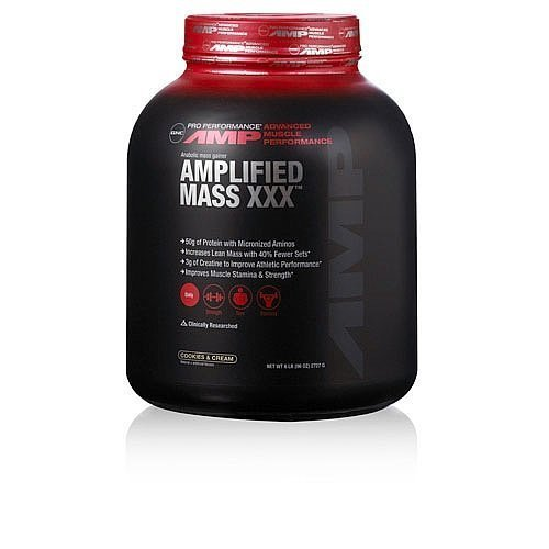 GNC Pro Performance Amp Amplified Mass XXX - Cookies & Cream 6lb by GNC Pro  Performance AMP