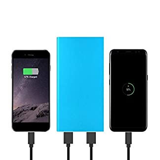 Kisshes Banco externo ultrafino del poder del cargador de batería 7000mAh para el teléfono celular Cargadores portátiles