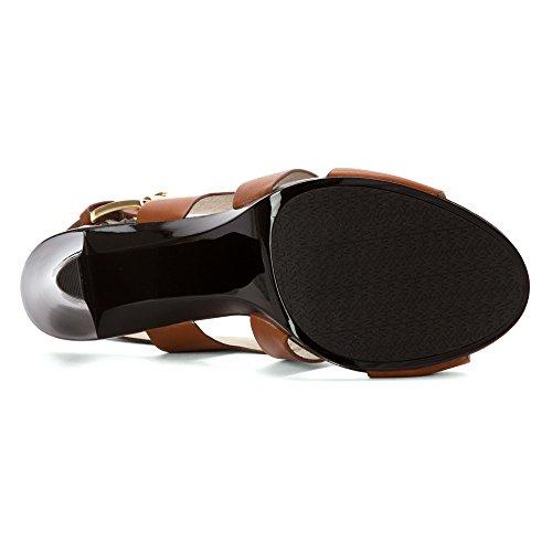 Michael Michael Kors Carla Sandal Cuir Sandales Luggage