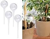 Royal Gardineer Bewässerungskugeln Glas: 4er-Set Gießfrei-Bewässerungs-Kugeln aus Glas, transparent, Ø 6 cm (Pflanzen Kugel)