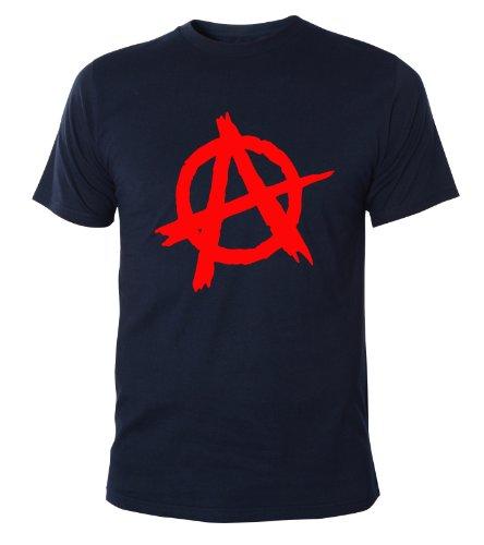 Mister Merchandise Cooles Herren T-Shirt Anarchy Anarchie Punk , Größe: M, Farbe: Navy (Wars-jugend-t-shirt Star)