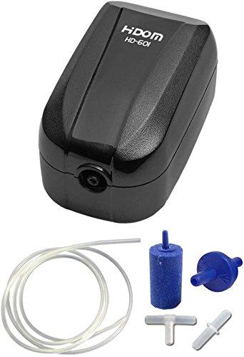Hidom 2.0w Aquarium Air Pump Single Valve HD-601 with Accessories Test