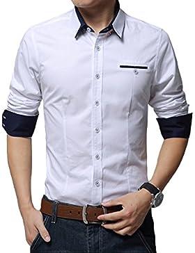 Uomo Camice Maniche Lunghe /Classica Camicia / Formale Camicia da Uomo / Camicia Inverno Taglia M/L/XL/XXL/3XL...
