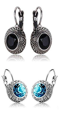 Shining Diva Fashion Jewelry Combo of 2 Stylish Fancy Party Wear Traditional Earrings For Women & Girls