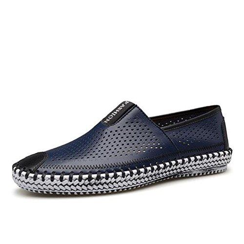 HUAN Hommes Chaussures Confort Mocassins & Slip-Ons Marche Chaussures Ruché Pour Casual Blanc Jaune Bleu Marine Bleu Clair Light Blue