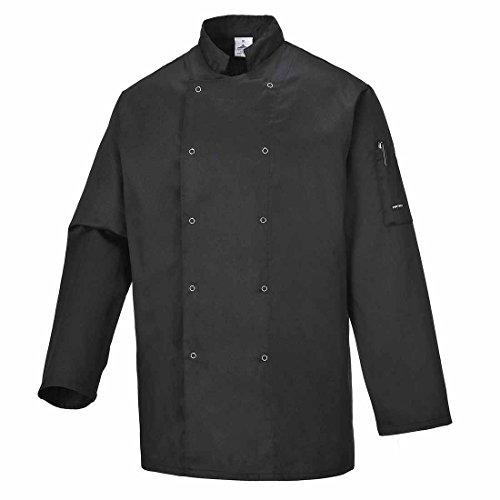 SUW–Suffolk Köche Küche Workwear Jacke, schwarz, Small