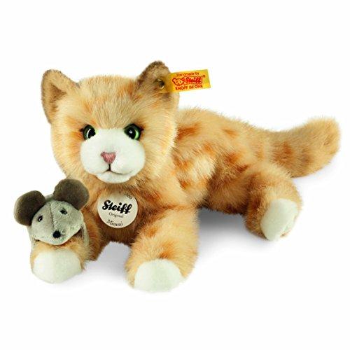 Steiff 099434 - Mimmi Katze 24 gestromelt liegend, rot