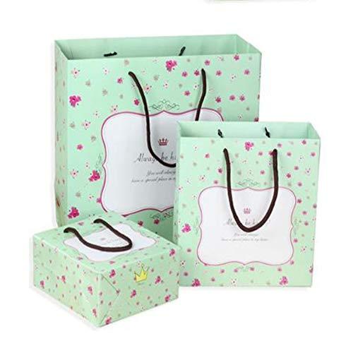 LIUQIAN Rückkehr Geschenk Beutel süß gestreift geschreddert Blume Papier Tasche Maske Tasche Kleidung Handtasche Set von DREI Stücken (groß Mittel und SM Alle (Papier-tasche-maske)