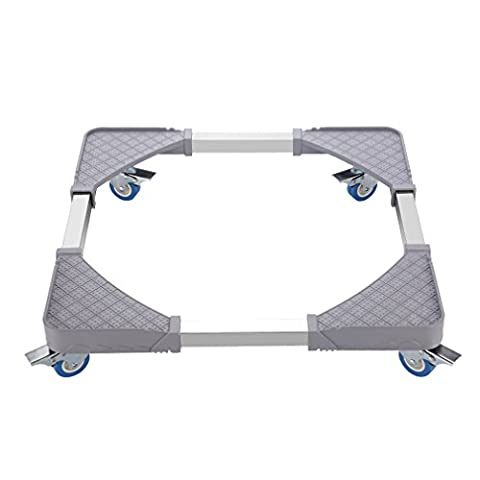 Appliance Trolley, LESHP Multi-functional Adjustable Appliance Wheels with 4 Locking Rubber Swivel for Dryer, Washing Machine and Refrigerator