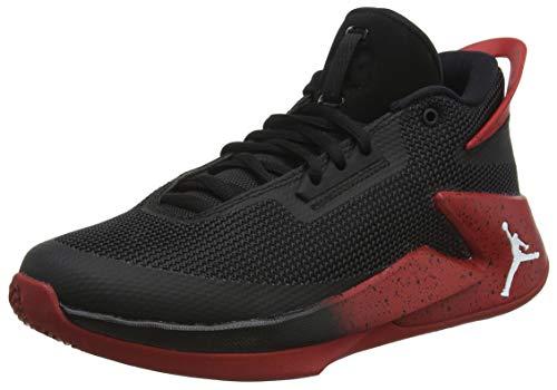 NIKE Kinder Jordan Fly Lockdown (GS) Schwarz/Rot Basketballschuhe 40