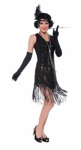 Swingin' In Sequins Roaring 20S Flapper Costume - Womens One Size Fits Most