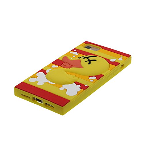"iPhone 7 Plus Hülle, TPU materielles flexibles, Case iPhone 7 Plus Handyhülle iPhone 7 Plus Cover 5.5"", [Schock-Beweis] [Ziemlich weich Kunststoff] Ring Ständer- Cartoon Bär Honey 3D gelb 4"