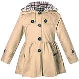 ARAUS-Mädchen Mantel Herbst Winter Klassische Jacke Klein mädchen Lang Windjacke mit Kapuze Baumwolle Trenchcoat 1-9 Alter