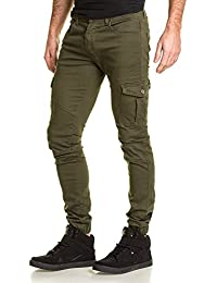 Gov Denim - Jogger pant homme kaki multipoches