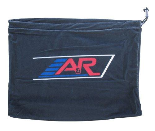 A & R Sports Velours Helm Tasche, schwarz