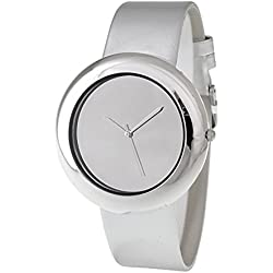 RITAL Women Watch in Grey Color Fashion Design Simple Clean Dial Silver Case and Grey Strap Extremely Fashionable Wrist Watch for Women and Girls