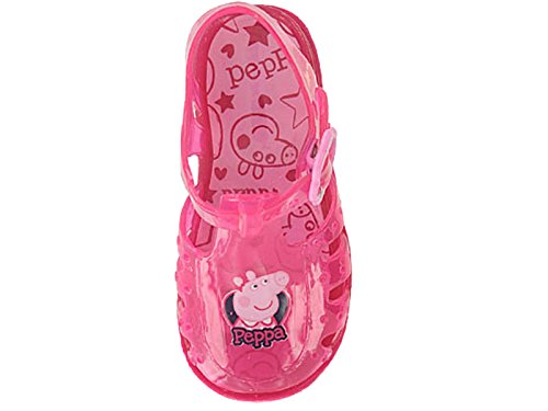 184798b265f6 Girls Kids Infant Pink Glitter Peppa Pig Jelly Shoes Sandals Beach  Gladiator Jellies Size 3-9 (UK 6 Infant