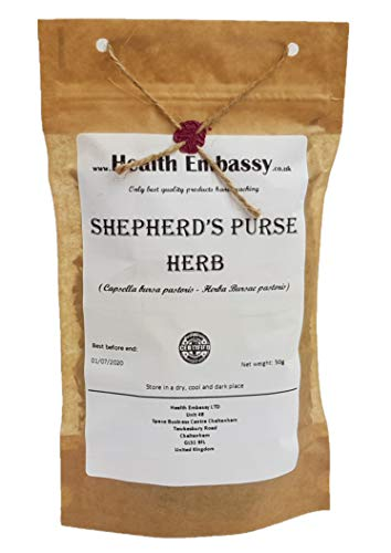 (Shepherd's Purse Herb ( Capsella bursa pastoris - Herba Bursae pastoris ) Health Embassy 100% Natural (50g) by Health Embassy)