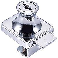 Cutogain Cerradura de Cristal de Aleación de Zinc para Puerta de Cristal DE 5 – 8 mm, sin Taladro, con 2 Llaves