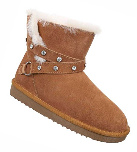 Damen Boots Schuhe Echtleder Stiefeletten Schwarz Beige Beige 36 37 38 39 40 41 Camel
