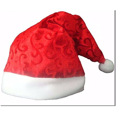 Beauty7 Gorro rojo de Pápa Noel de tela de del telar jacquar